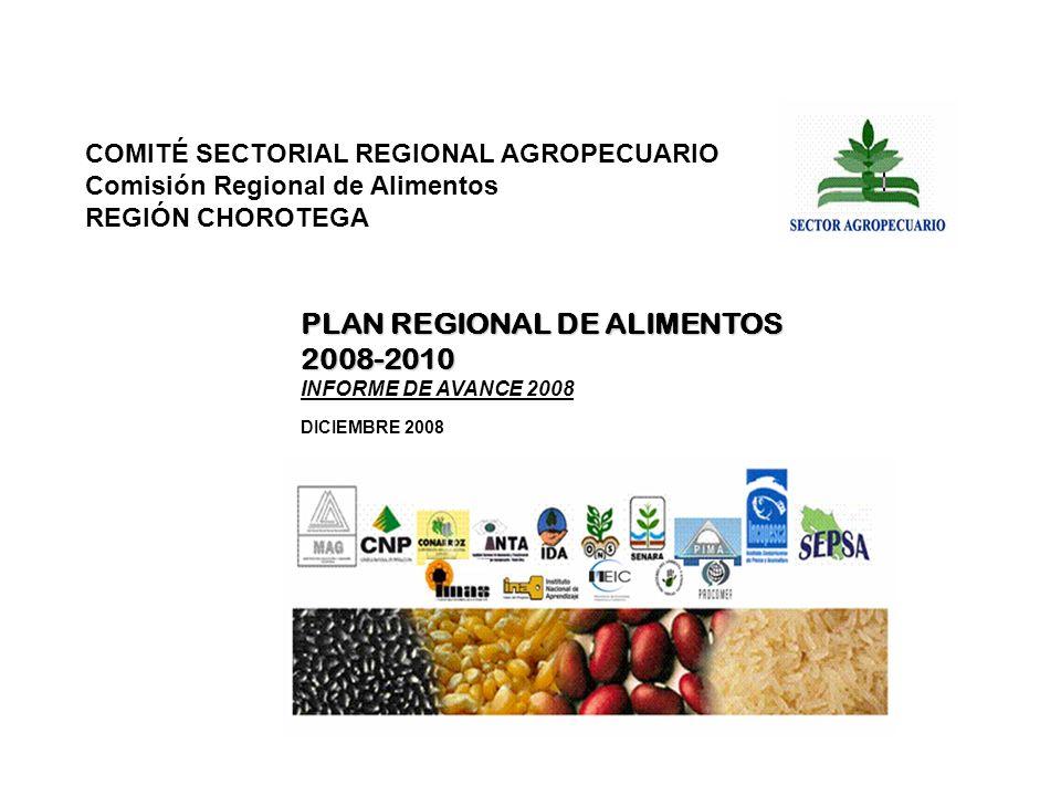PLAN REGIONAL DE ALIMENTOS 2008-2010