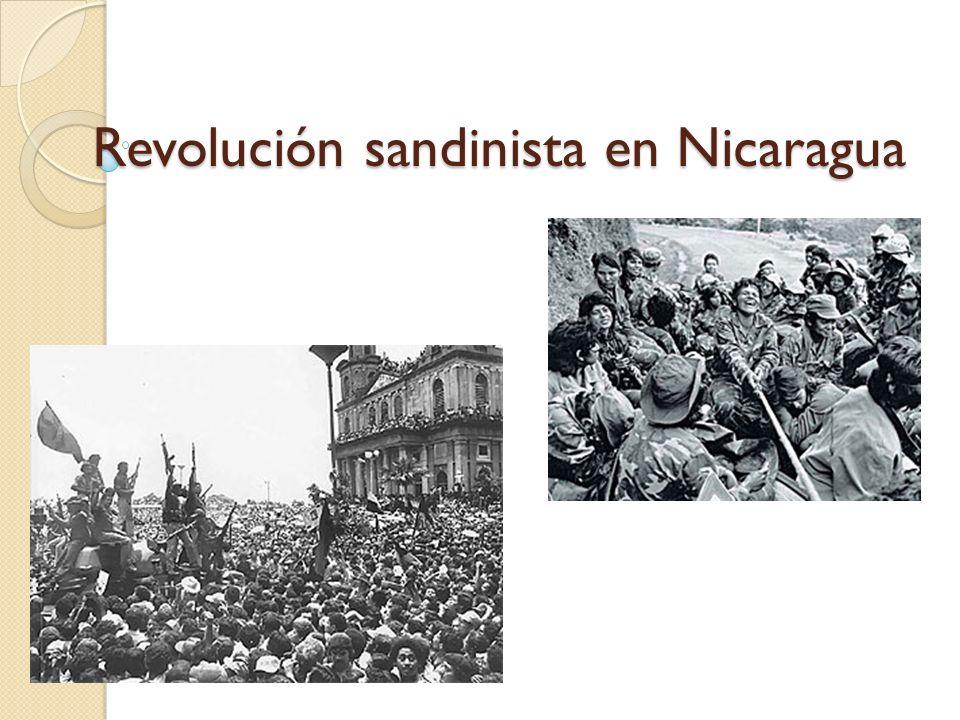 Revolución sandinista en Nicaragua