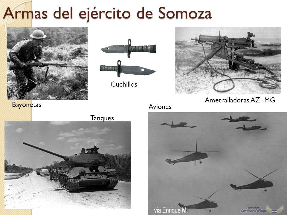 Armas del ejército de Somoza