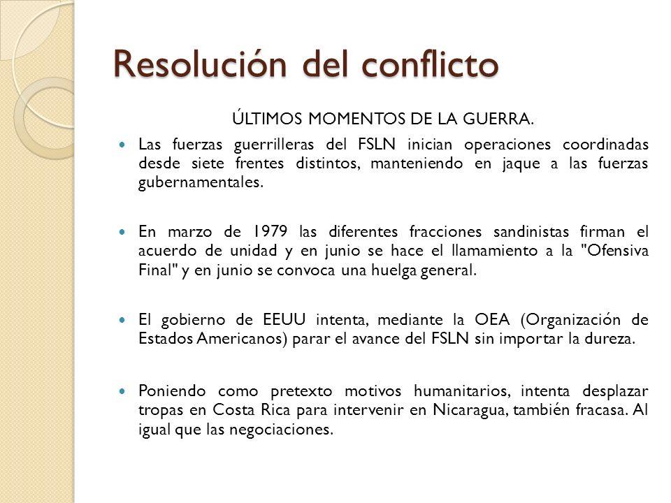 Resolución del conflicto