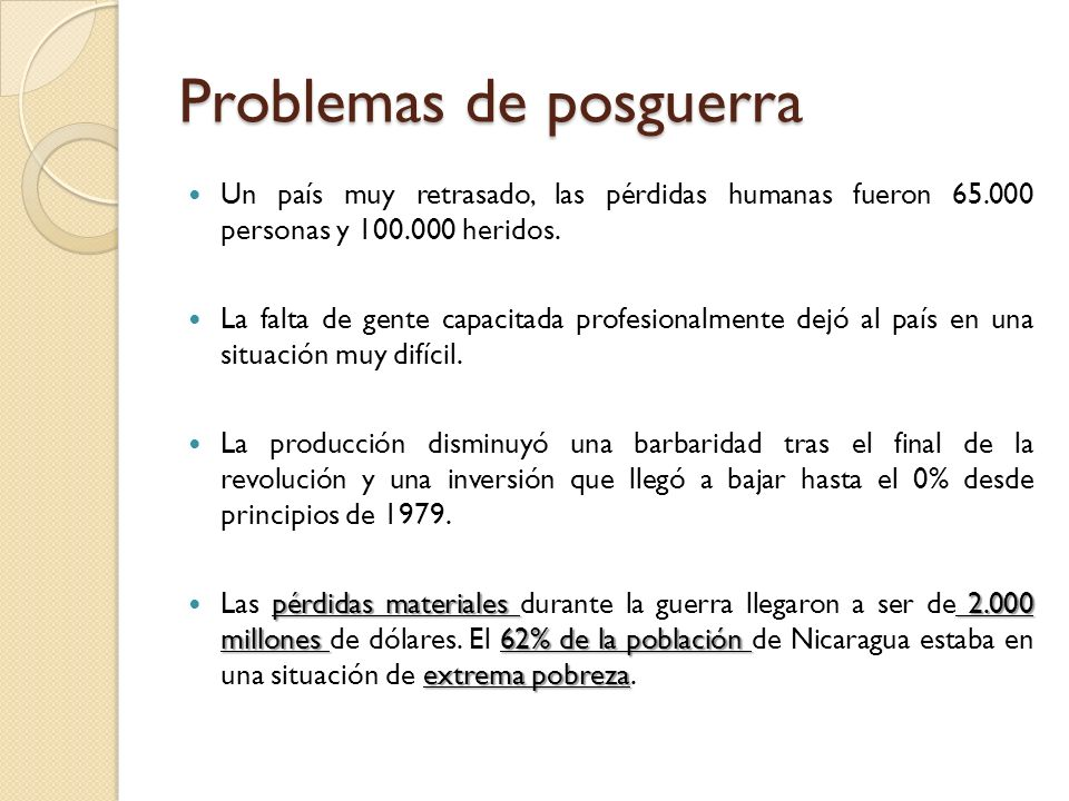 Problemas de posguerra