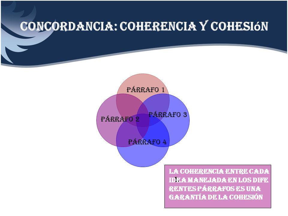 Concordancia: coherencia y cohesión