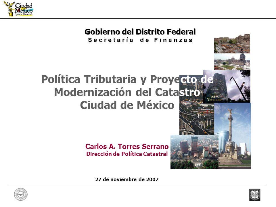 Política Tributaria y Proyecto de Modernización del Catastro