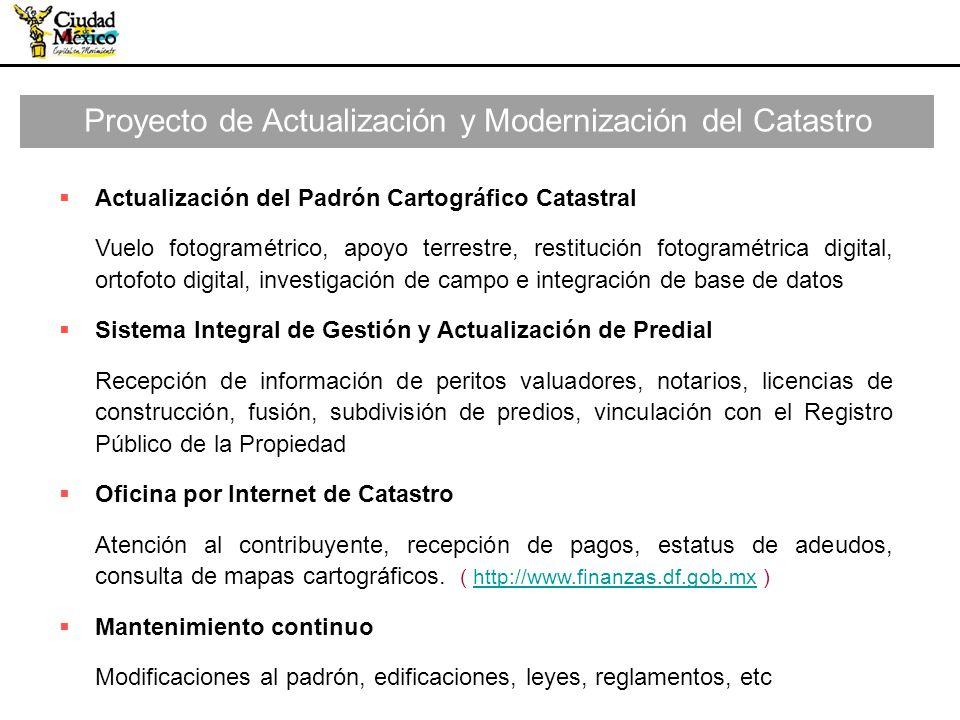 Proyecto de Actualización y Modernización del Catastro