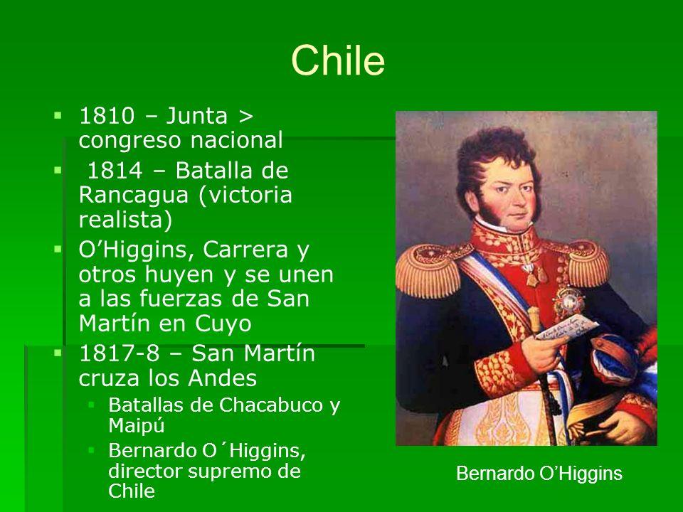 Chile 1810 – Junta > congreso nacional