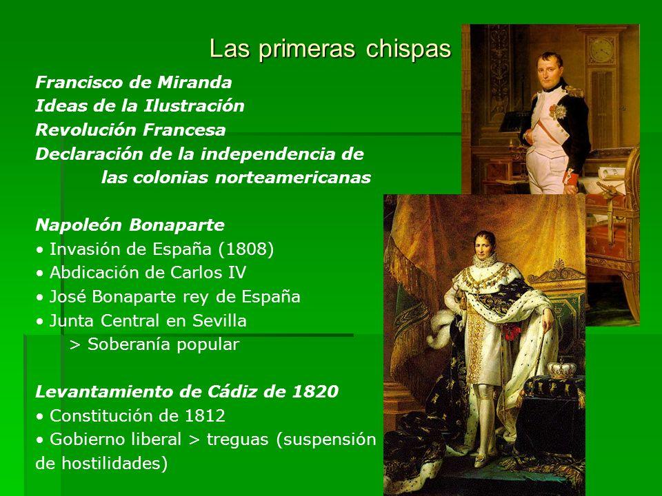 Las primeras chispas Francisco de Miranda Ideas de la Ilustración