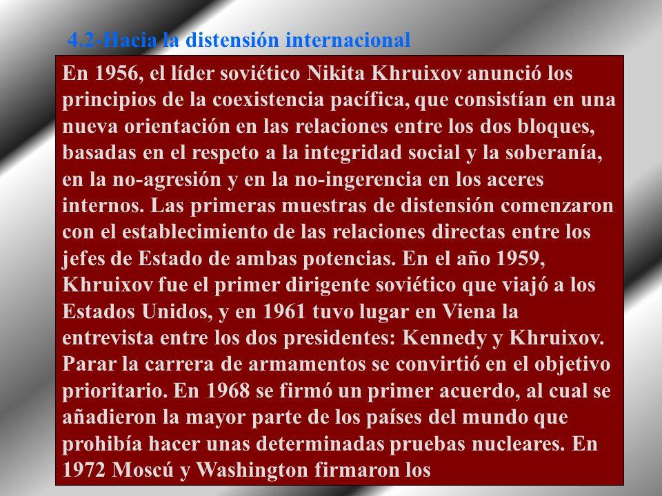 4.2-Hacia la distensión internacional