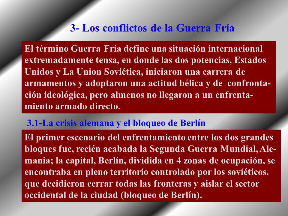 3- Los conflictos de la Guerra Fría