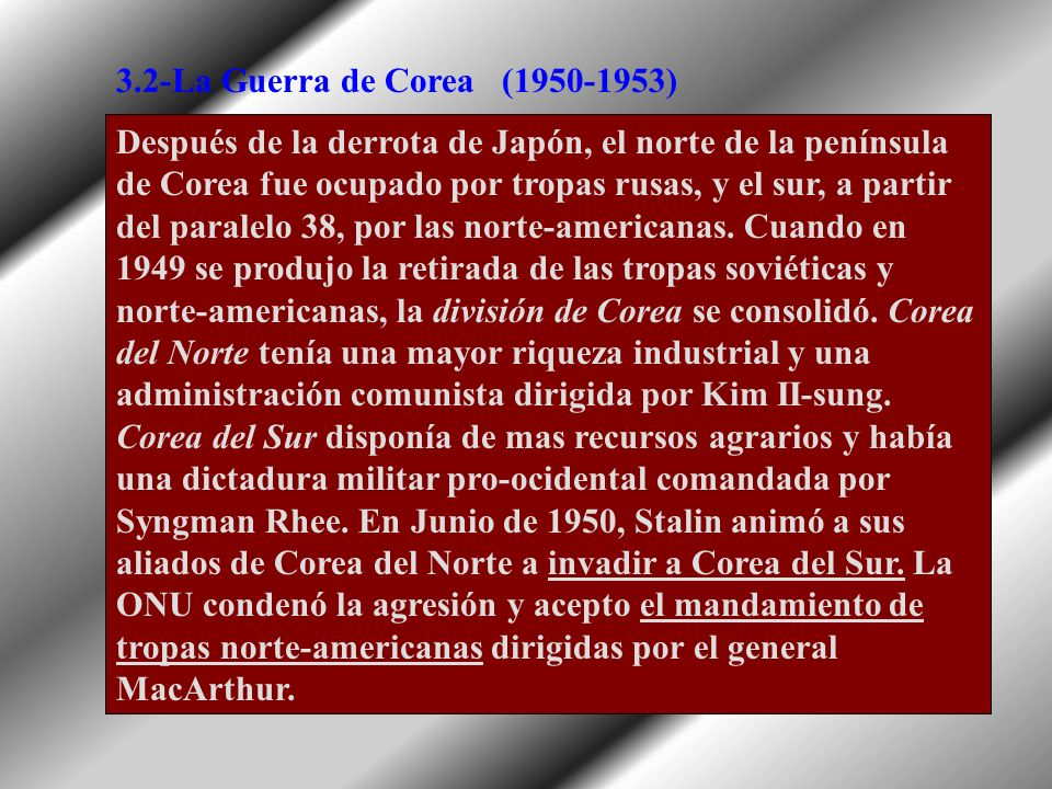 3.2-La Guerra de Corea(1950-1953)