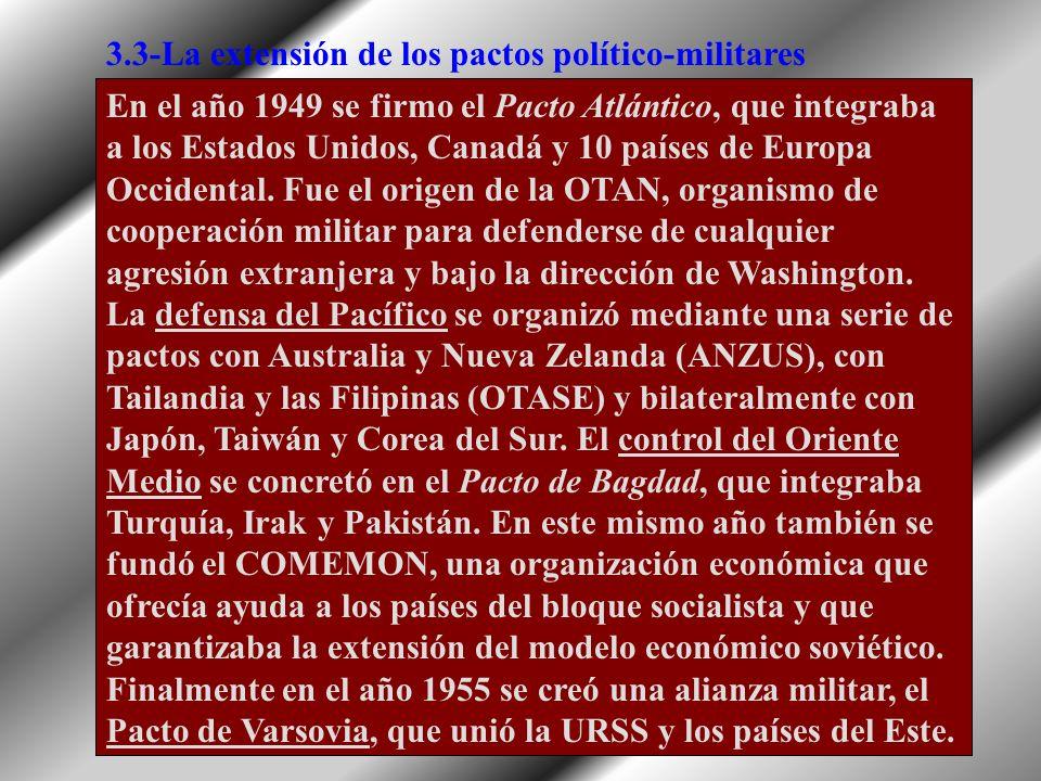 3.3-La extensión de los pactos político-militares