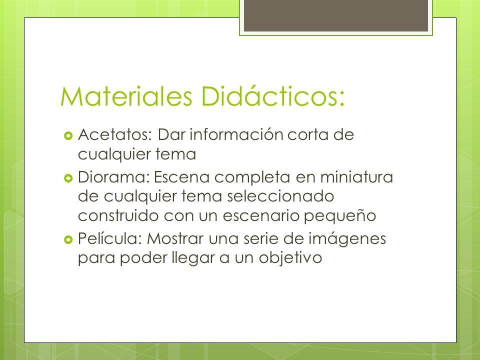 Materiales Didácticos: