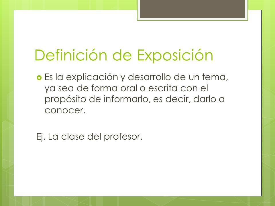 Definición de Exposición