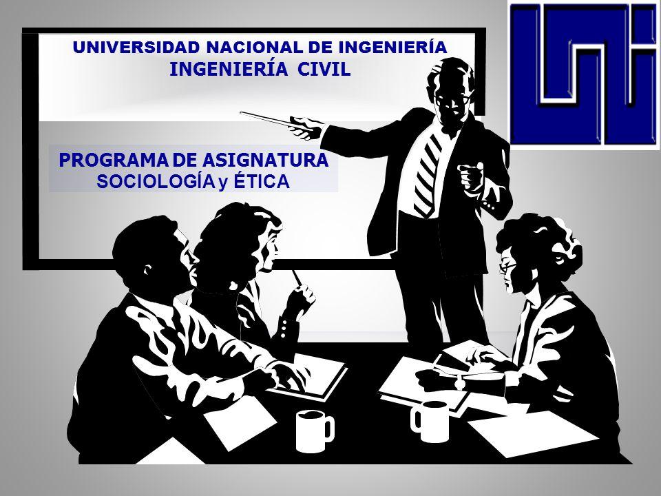 PROGRAMA DE ASIGNATURA SOCIOLOGÍA y ÉTICA