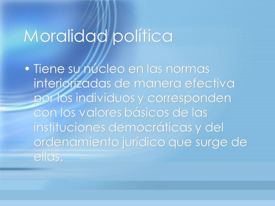Moralidad política
