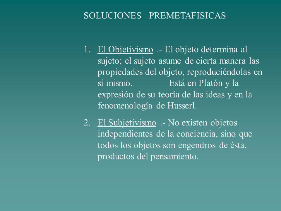 SOLUCIONES PREMETAFISICAS