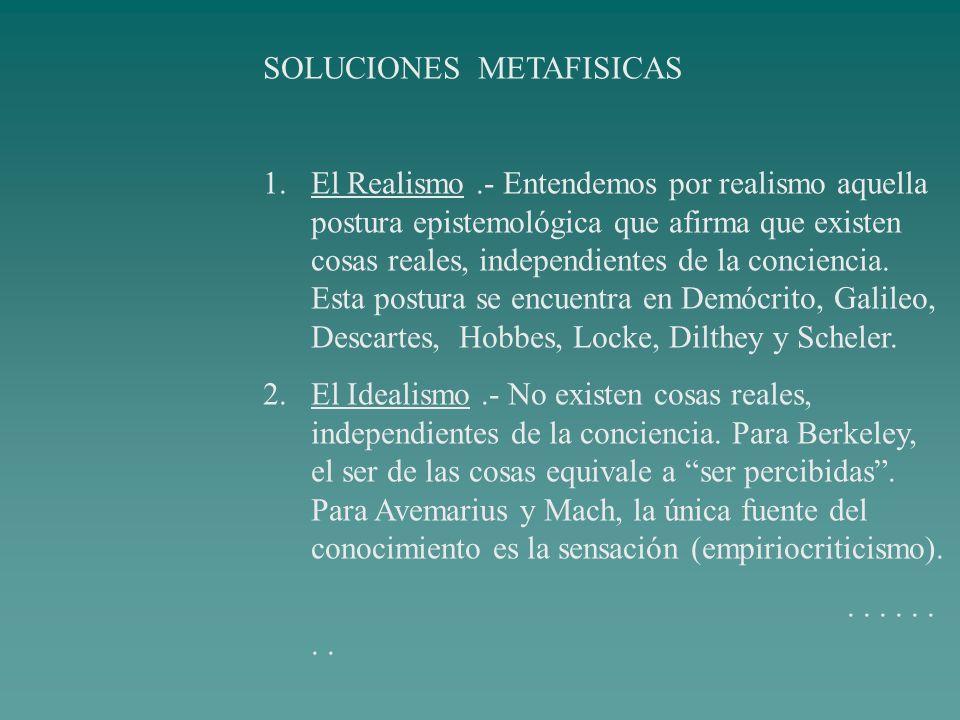 SOLUCIONES METAFISICAS
