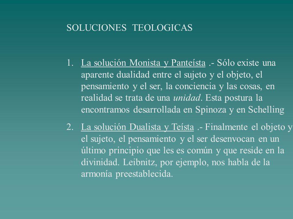 SOLUCIONES TEOLOGICAS