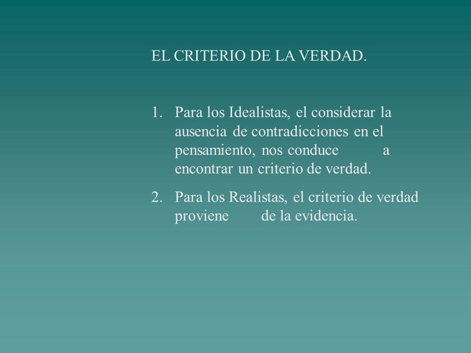 EL CRITERIO DE LA VERDAD.