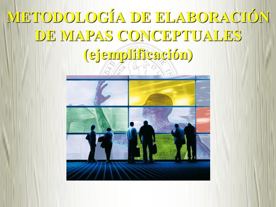 METODOLOGÍA DE ELABORACIÓN DE MAPAS CONCEPTUALES