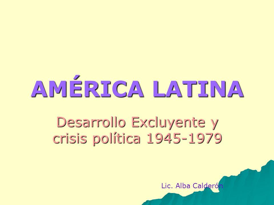 Desarrollo Excluyente y crisis política 1945-1979