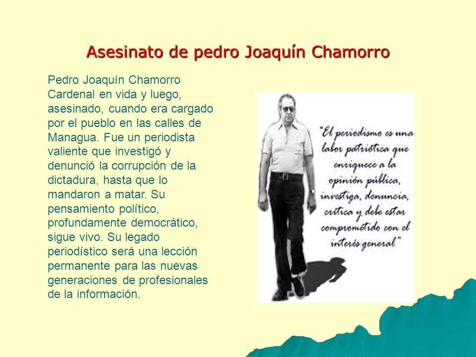 Asesinato de pedro Joaquín Chamorro
