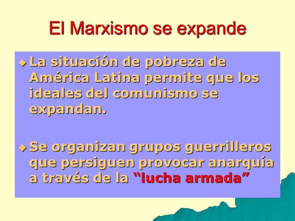 El Marxismo se expandeLa situación de pobreza de América Latina permite que los ideales del comunismo se expandan.