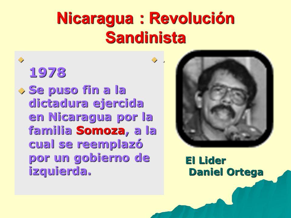 Nicaragua : Revolución Sandinista