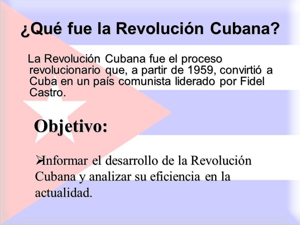 ¿Qué fue la Revolución Cubana