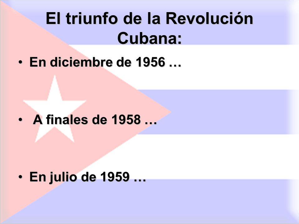 El triunfo de la Revolución Cubana:
