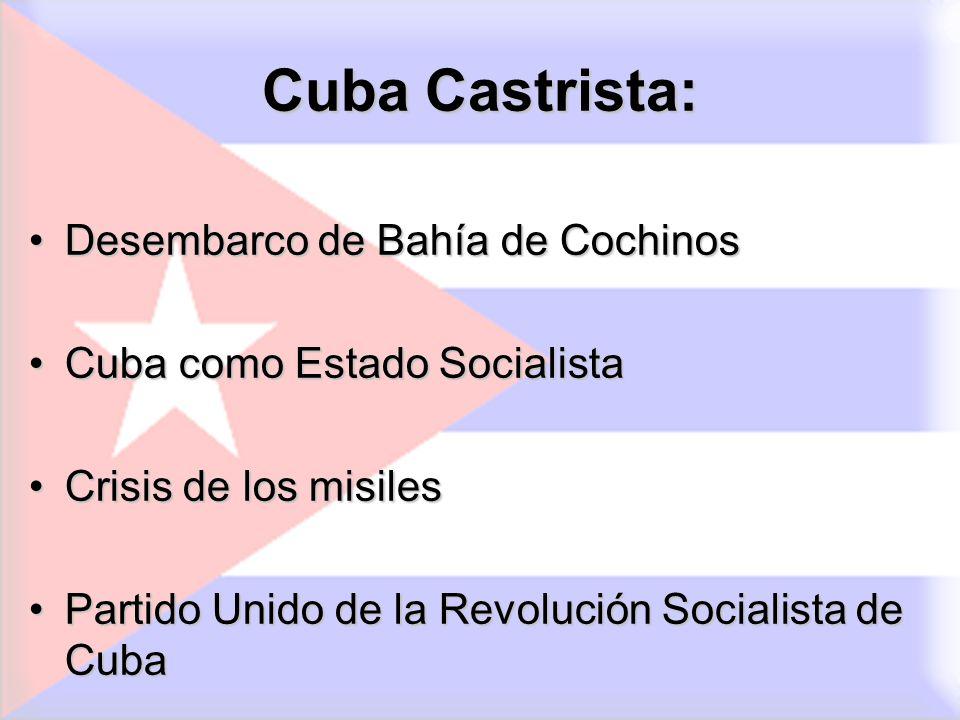 Cuba Castrista: Desembarco de Bahía de Cochinos