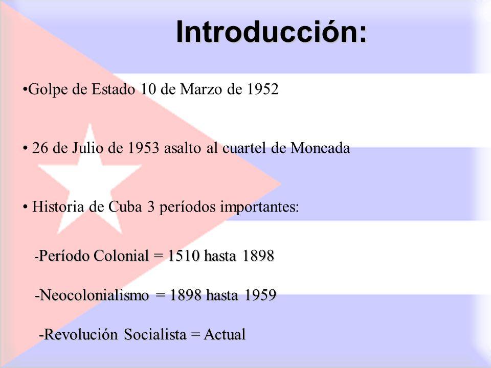 Introducción: Golpe de Estado 10 de Marzo de 1952
