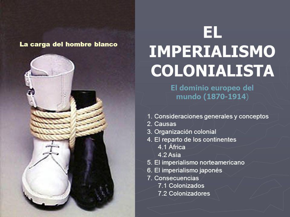 EL IMPERIALISMO COLONIALISTA La carga del hombre blanco