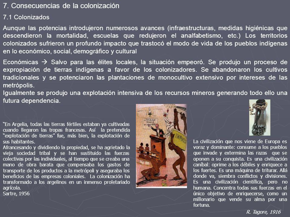 7. Consecuencias de la colonización