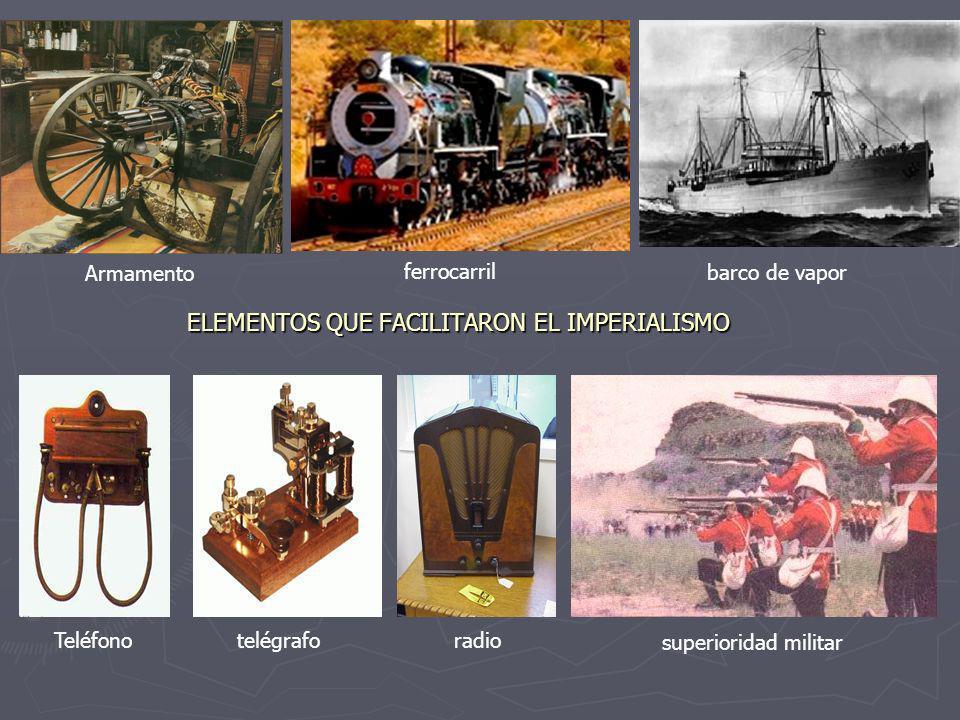 ELEMENTOS QUE FACILITARON EL IMPERIALISMO