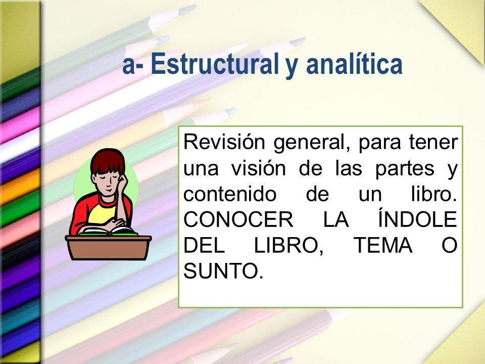 a- Estructural y analítica
