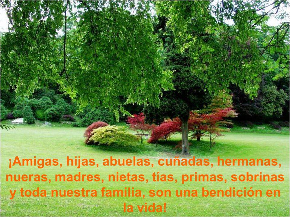 ¡Amigas, hijas, abuelas, cuñadas, hermanas, nueras, madres, nietas, tías, primas, sobrinas y toda nuestra familia, son una bendición en la vida!