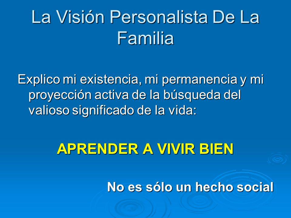La Visión Personalista De La Familia