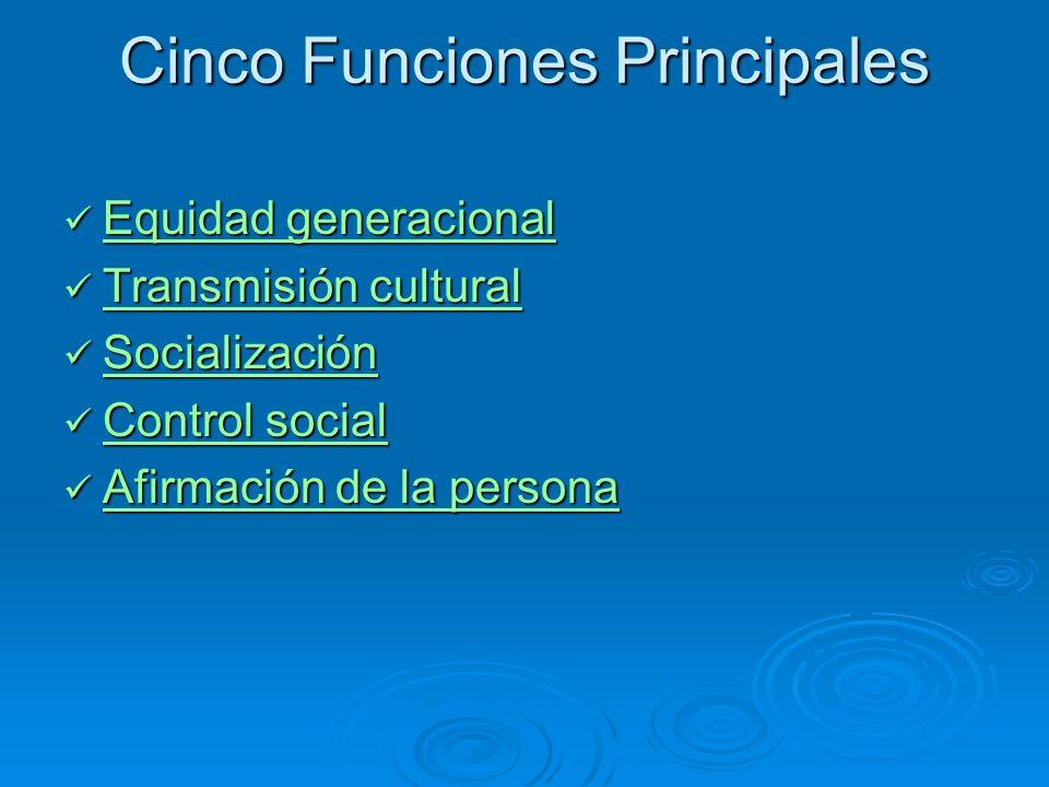 Cinco Funciones Principales