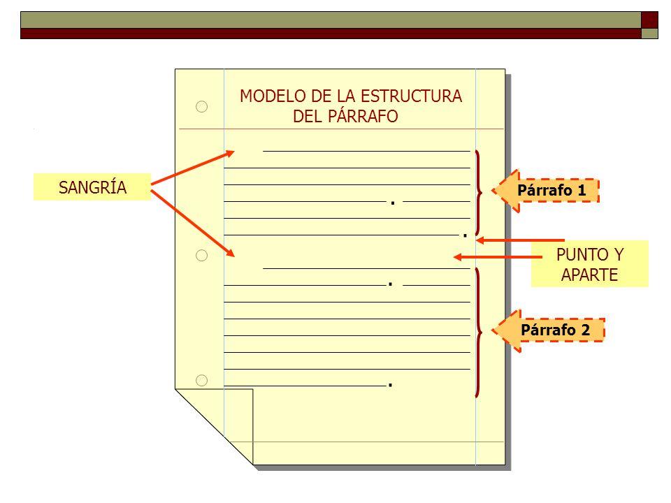 MODELO DE LA ESTRUCTURA