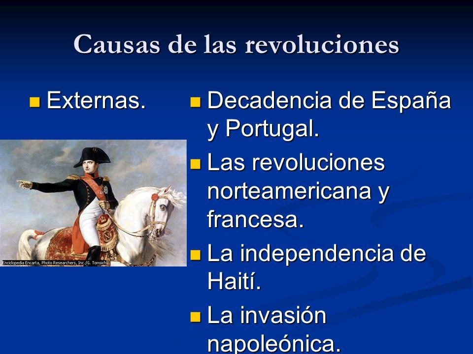Causas de las revoluciones