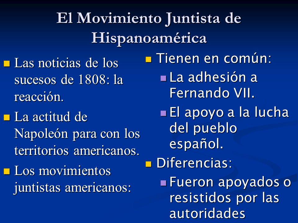 El Movimiento Juntista de Hispanoamérica