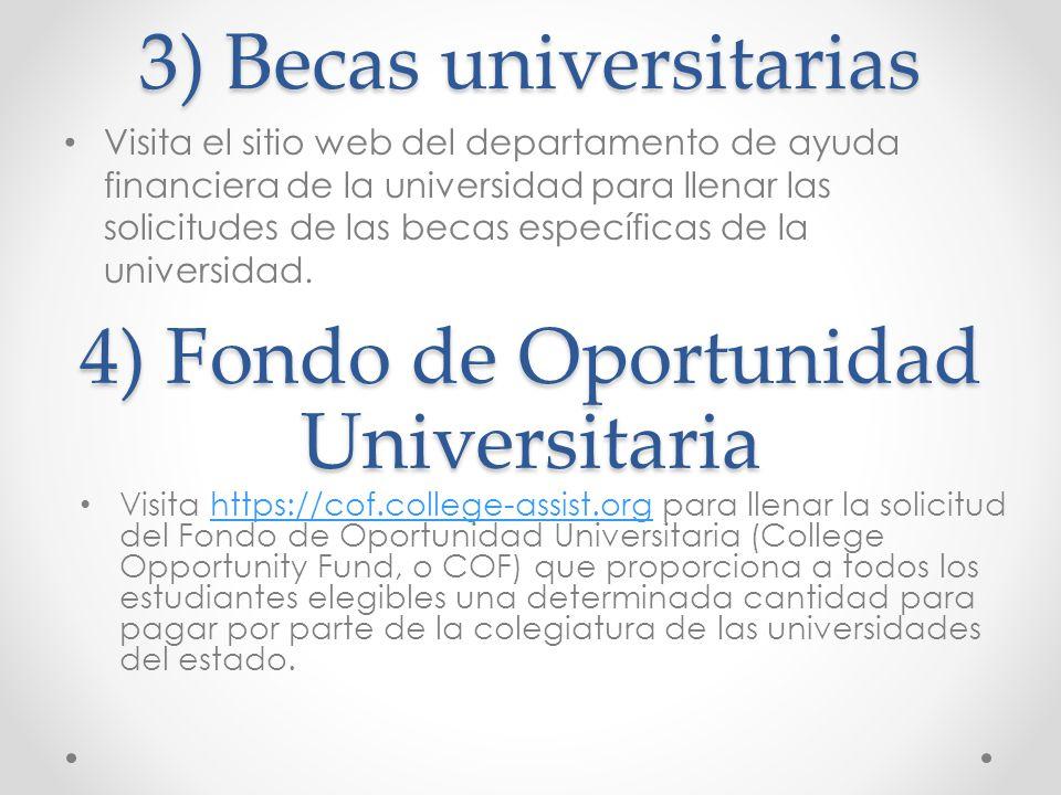 3) Becas universitarias