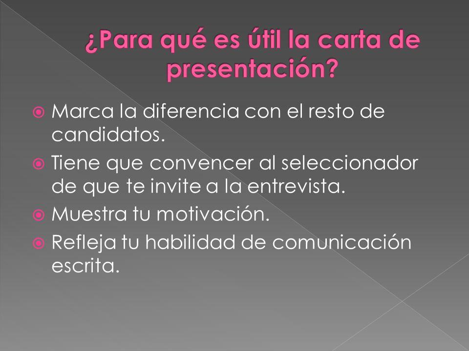 ¿Para qué es útil la carta de presentación