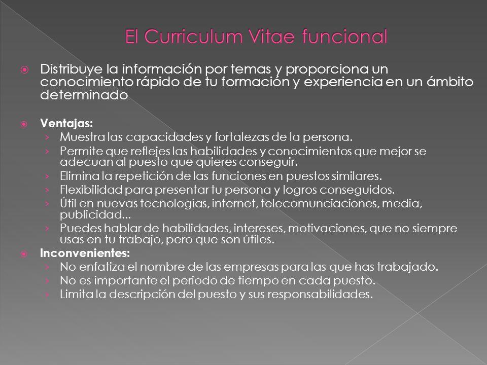 El Curriculum Vitae funcional
