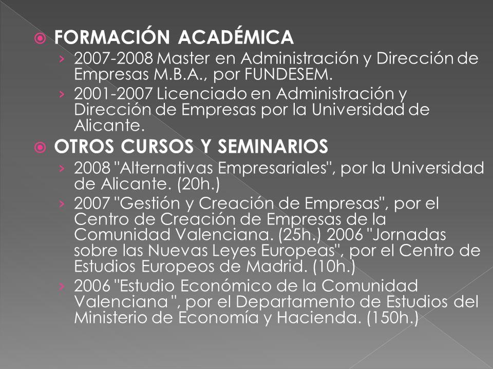 OTROS CURSOS Y SEMINARIOS