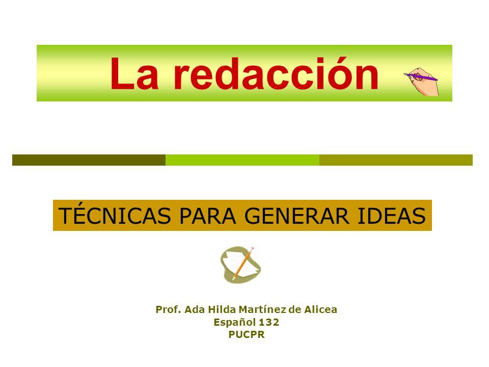 Prof. Ada Hilda Martínez de Alicea Español 132 PUCPR