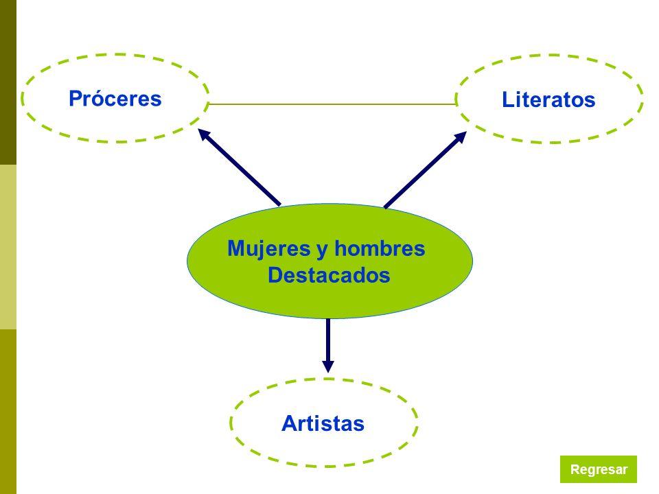 Próceres Literatos Mujeres y hombres Destacados Artistas