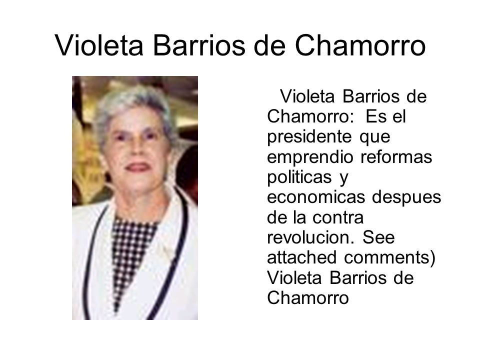 Violeta Barrios de Chamorro