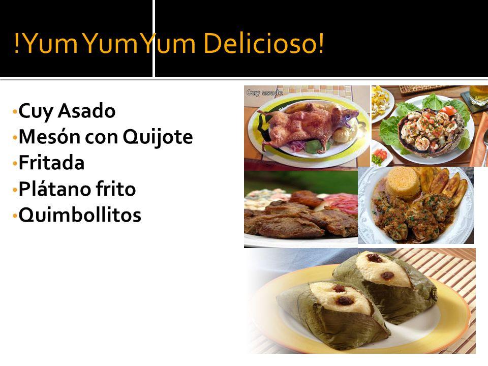 !Yum YumYum Delicioso! Cuy Asado Mesón con Quijote Fritada
