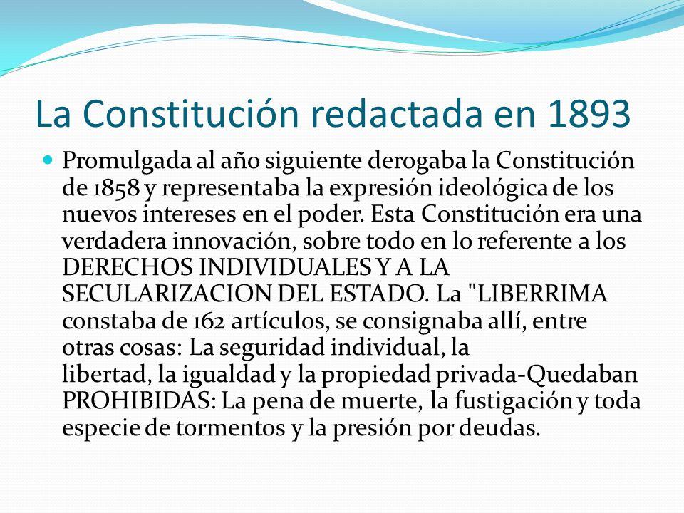 La Constitución redactada en 1893